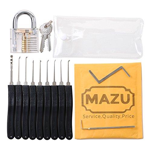 11-Piece-Unlocking-Lock-Pick-Set-Key-Extractor-Tool-Transparent-Practice-Padlocks