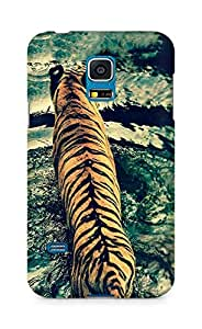 Amez designer printed 3d premium high quality back case cover for Samsung Galaxy S5 Mini (Tiger crossing the river)