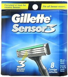 Gillette Sensor3 Cartridges, 8 Count