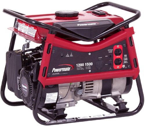 Powermate PM0101207 Vx Power Series 1,500 Watt 99cc Gas Powered Portable Generator