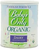 Babys Only Organic Toddler Formula, Dairy Iron Fortified, 12.7-Ounce Canisters (Pack of 3)