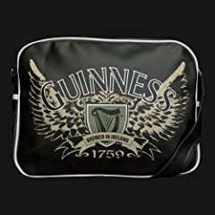 Black Guinness Wings PVC Satchel Bag