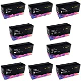10 x CLP360 Toner Cartridges Compatible with Samsung CLP-360, CLP-360N, CLP-365, CLP-365W, CLX-3300, CLX-3305, CLX-3305FN, CLX-3305N, CLX-3305W, CLX-3305FN, CLX-3305FW, Xpress C410W, SL-C460FW Printers (4BK,2C,2M,2Y)