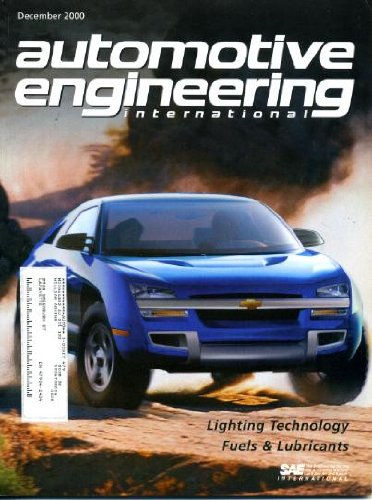 Automotive Engineering International December 2000 Chevrolet Borrego Concept Car On Cover, Lighting Technology, Fuels & Lubricants, High-Flux Led Light Sources, Diesel Emission Control - Sulfur Effects, Hid For Both Beams