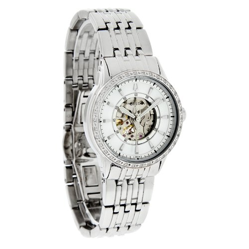 For sale Bulova Women's 96R139 Mechanical hand wind Diamond Case Mother-Of-Pearl Dial Watch