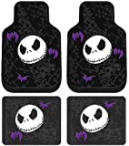 Nightmare Before Christmas Jack Skellington Graveyard Disney Front & Rear Car Truck SUV Seat Rubber Floor Mats - 4PC