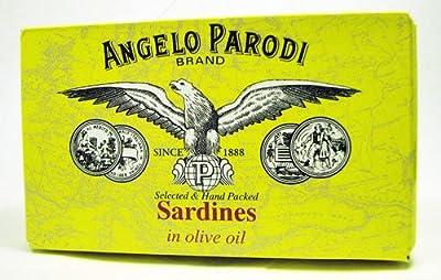 Angelo Parodi Brand Portuguese Sardines in Olive Oil 120 Gr Tin