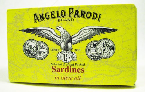 Angelo Parodi Brand Portuguese Sardines in Olive Oil 120 Gr Tin by Angelo Parodi