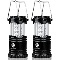 2-Pack Etekcity Portable Outdoor LED Camping Lantern Flashlights (Black)