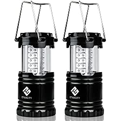 2-Pack Etekcity Portable Outdoor LED Camping Lantern Flashlights