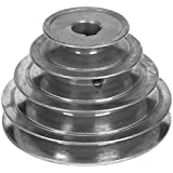 """5"""" Diameter - 4 Step Pulley 1/2"""" - 5/8"""" Fixed Bore - Die Cast by Congress"""
