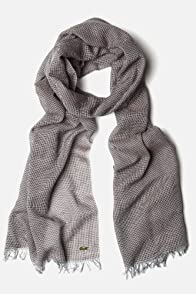 Men's Cotton Windowpane Scarf