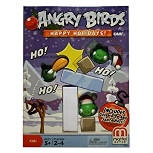 Mattel Angry Birds Happy Holidays! Game - Christmas Themed Board Game