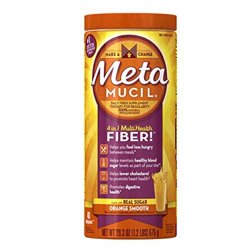 Metamucil Orange Sugar Smooth Texture Powder, 20.3-Ounce