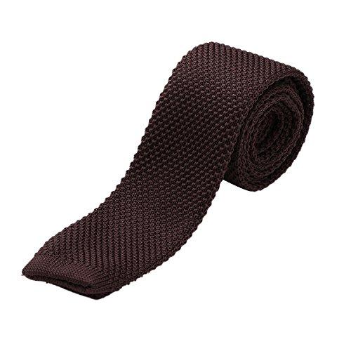 Cravatta DonDon Uomo fatta a maglia 5 cm marrone