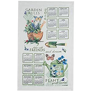 Garden rules 2016 kitchen towel calendar by Kay dee designs kitchen towels