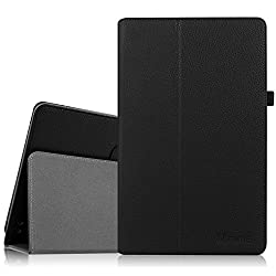 Fintie Dragon Touch X10 / Astro Tab A10 Case - Premium PU Leather Stand Cover with Stylus Loop for Dragon Touch X10 / Astro Tab A10 10 Inch Octa Core Android Tablet PC, Black