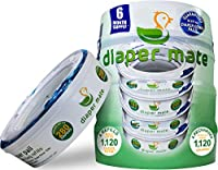 Diaper Mate Refill for Diaper Genie Diaper Pails 4 Pack - 1,120 Count - 6 Month Supply by Diaper Mate