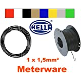 Hella Fahrzeugleitung 1,5mm² ROT Meterware Fahrzeugkabel Litze FLY Kabel Cu