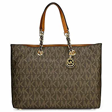 michael kors cynthia brown pvd tote handbags. Black Bedroom Furniture Sets. Home Design Ideas