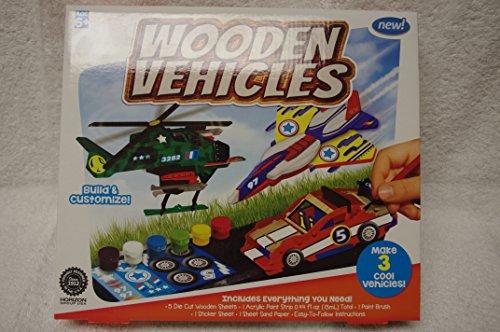 Wooden Vehicles Building Set