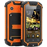 Sudroid Z18 Android 4.2 Mini Water and Dust-proof Cellphone with Dual Sim Card Slots Unlocked Orange(US Native Shipping)