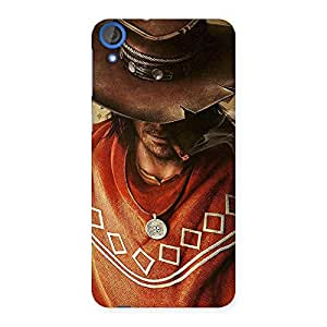 Stylish Cowboy Multicolor Back Case Cover for HTC Desire 820