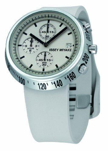 Issey Miyake IM-SILAT004 - Reloj unisex de cuarzo, correa de plástico color gris