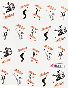 GGSELL Miao Yun Michae Jackson water transfer decals nail hydroplaning nail decals