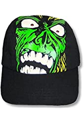 "Adult Rob Zombie ""All Over Print"" Black Fitted Baseball Cap Hat"