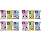 Variety Pack of 180 Snacks Almond Rice Pops with Blueberry, Mango, Cranberry 1-oz Pouches (Pack of 12)