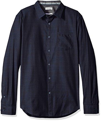 Calvin-Klein-Mens-Slim-Fit-Long-Sleeve-Jacquard-Plaid-Button-Down-Shirt