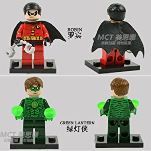 9pcs DC Universe Super Heroes Wolverine X-MEN Loki Robin Green Lantern The Flash Building Minifigures Block Compatible With Lego