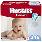 Huggies Snug & Dry Diapers, Size 2, 246 Count