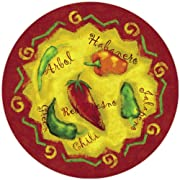 CounterArt Chili Peppers Glass Lazy Susan