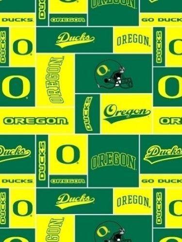 College University of Oregon Ducks Print Fleece Fabric By the Yard