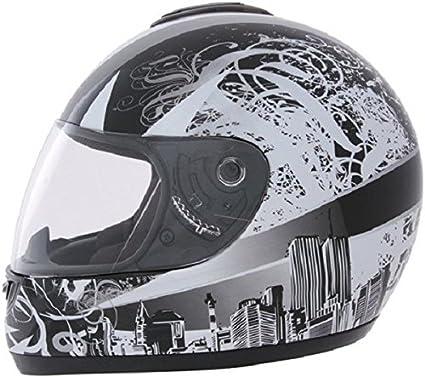 ROADSTAR integral casque revolution motif horizon blanc