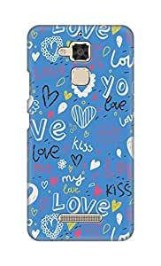 ZAPCASE Printed Back Cover for Asus Zenfone 3 Max (ZC520TL)