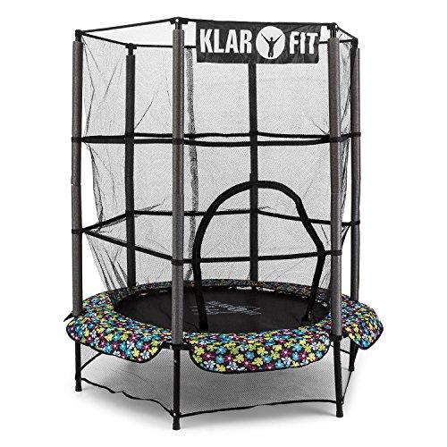 klarfit-rocketkid-4-trampolino-elastico-per-bambini-piccola-pedana-per-saltare-140-cm-rete-di-protez