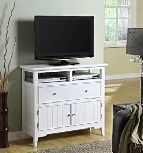 Powell White Cottage TV Stand