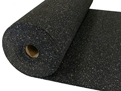 EFFECTIVE Heavy Acoustical Rubber Flooring Underlayment/Padding - 16db Decrease - Impact Sound Reduction - Home Theater Sound Reduction - 2mm thick - Recycled Rubber - Made in the USA - 200sq Ft Roll
