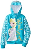 Frozen Little Girls' Frozen Elsa Glitter Hoodie