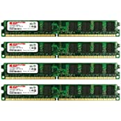 KOMPUTERBAY 8GB 4X 2GB DDR2 800MHz PC2-6300 PC2-6400 240 PIN DIMM Desktop Memory With Samsung Semiconductors