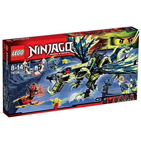 LEGO Ninjago - 70736 - Playthèmes - Jeu de Construction - L'Attaque du Dragon Moro