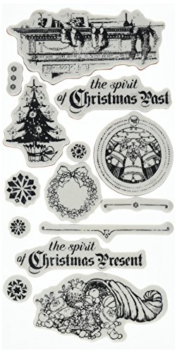 Graphic 45 Christmas Carol Cling Stamps-#2