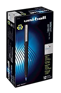 uni-ball Stick Fine Point Roller Ball Pens, 12 Blue Ink Pens(60103)