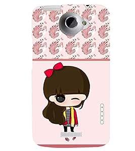 PRINTSWAG CARTOON GIRL Designer Back Cover Case for HTC ONE X