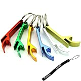 HeroNeo® 5pcs Pocket Key Chain Beer Bottle Opener Claw Bar Small Beverage Keychain Ring