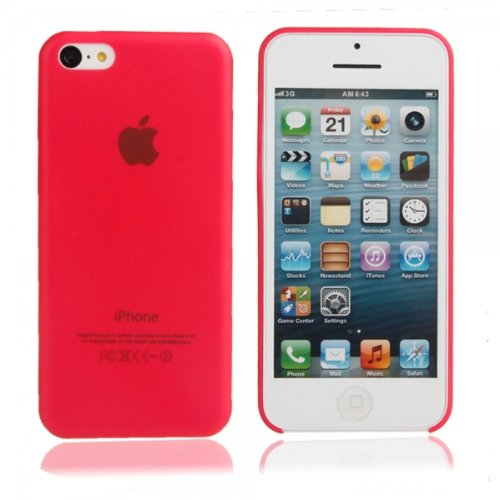 Ultra-Thin ( 0.35Mm ) Frosted Protective Pc Case For Iphone 5C Red 87013157 front-519877