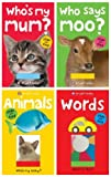 img - for Bright Baby: 4 Slide and Find - Toddler/Baby Board Books. Set includes: (Animals (Who's My Baby) / Words (What is This?) / Who Says Moo? / Who's My Mum? Rrp  15.96) book / textbook / text book